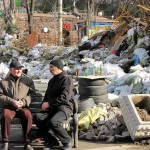 Крещатик, баррикады, мусор, место отдыха