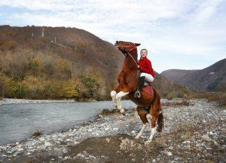 Юная наездница. Эта девочка-подросток смогла обуздать не одного коня и неоднократно успешно участвовала в скачках.